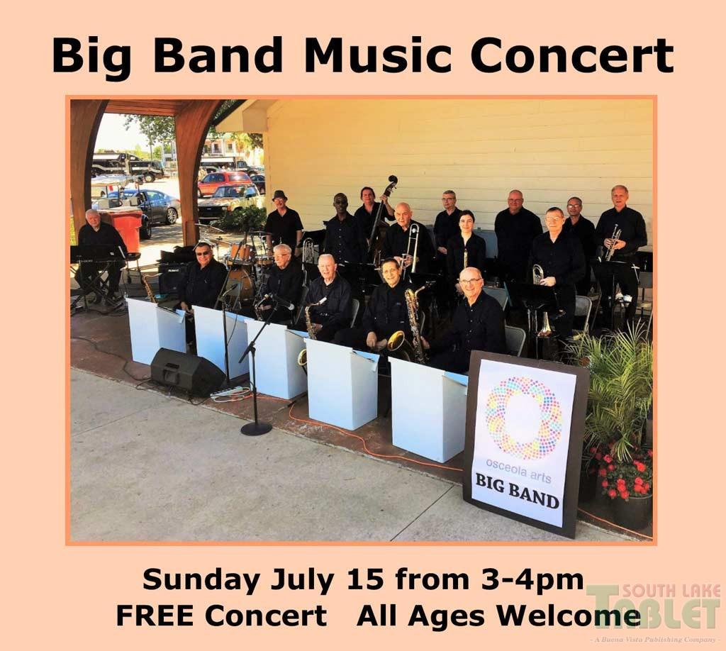 FREE Big Band Music Concert At the Minneola City Hall (July 15